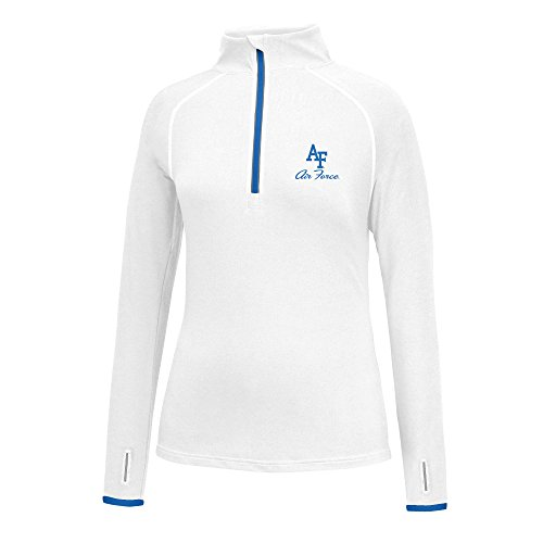 J America NCAA Frauen 'S Script Logo Power Durch Poly 1/2Zip Jacke, Damen, Power Through 1/2 Zip, Air Force Falcons, XX-Large -