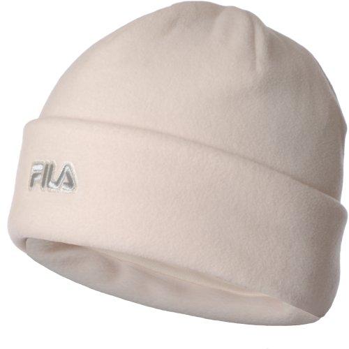fila-mens-womens-thermal-fleece-winter-warm-turn-up-beanie-hat-white-m