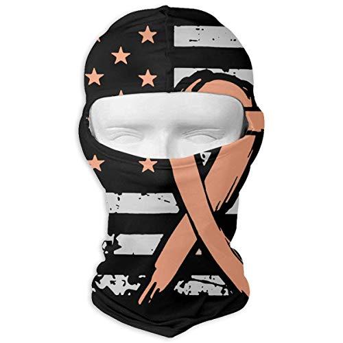 Aeykis Uteruskrebs Amerikanische Flagge Unisex-Gesichtsmaske Dust Sun UV-Schutz Balaclava ()