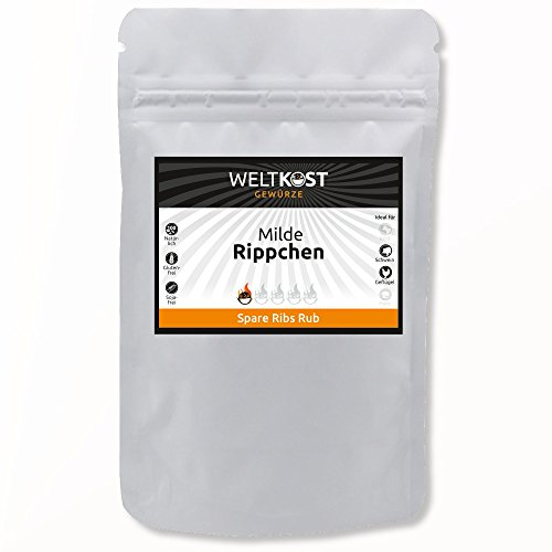 Weltkost milde Rippchen Marinade 200 g - Spare Ribs BBQ Grill Rub