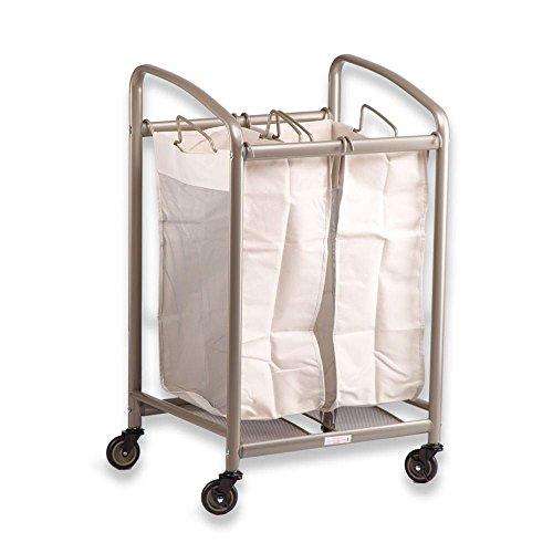 Carro clasificador de lavanderia con 2 bolsas y ruedas