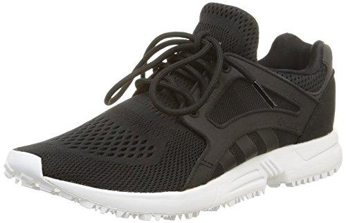 adidas Racer Lite Em, Baskets Basses femme Noir (Core Black/Core Black/Ftwr White)