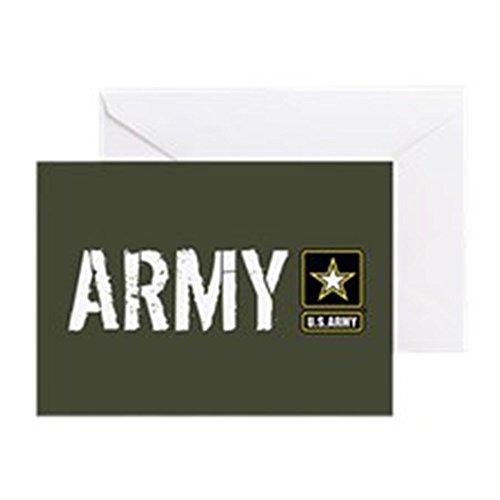CafePress–U.S. Army: Armee (Military Grün)–Grußkarte, Note Karte, Geburtstagskarte, innen blanko, matt (Boot-camp-logo)