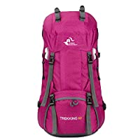 YYF 60L Large Capacity Travel Backpack, Durable Hiking Dayback Backpack for Men and Women Lightweight backpack for Camping & Mountaining