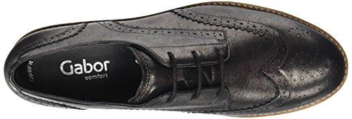 Gabor Comfort Sport, Chaussures À Lacets Pour Femme Gris (17 Steel Ss / C)