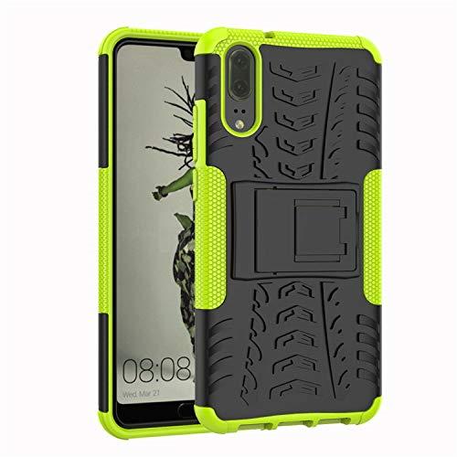 betterfon | Outdoor Handy Tasche Hybrid Case Schutz Hülle Panzer TPU Silikon Hard Cover Bumper für Huawei P20 Grün