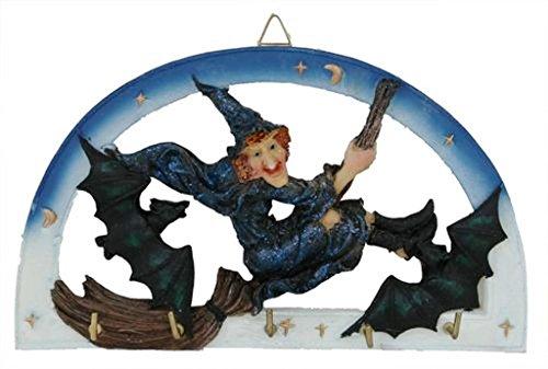 ollig Hexe fliegender Besen mit Schlägern Schlüsselhalter Haken Halloween Decor Hexerei ()
