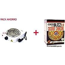 ¡PACK ESPECIAL! Hornillo Eléctrico + Carbón Natural para Shisha Cocobuzz 2.0