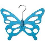 WENKO 8016500 Schalhalter Schmetterling - 2er Set, 12 Öffnungen, Kunststoff - Acryl, 30.5 x 0.5 x 24.5 cm, Grün