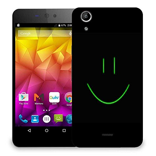 Snoogg Smiley Face Minimalistic Designer Protective Phone Back Case Cover For Micromax Canvas Selfie Lens Q345  available at amazon for Rs.299