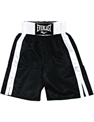 Everlast Pro 24` - Pantalones de boxeo, color Negro / Blanco, talla M
