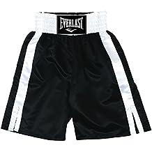 Everlast Pro 24` - Pantalones de boxeo, color Negro / Blanco, talla XL