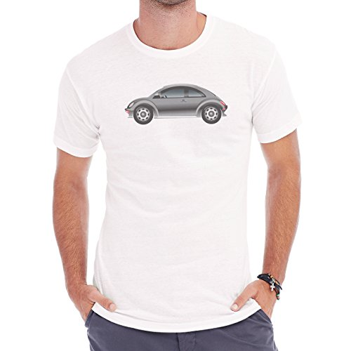 Car Vehicle Four Wheels Auto WV Grey Herren T-Shirt Weiß