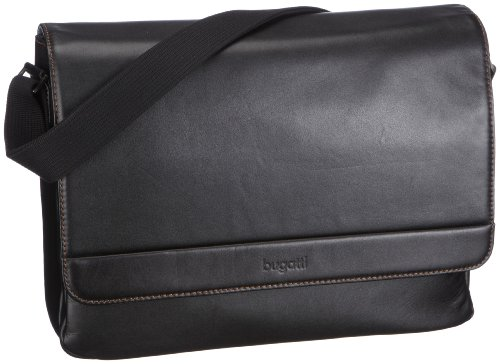 Bugatti 49540301 Messenger Bag, Mallette mixte adulte - Noir-V.2 Noir-V.2