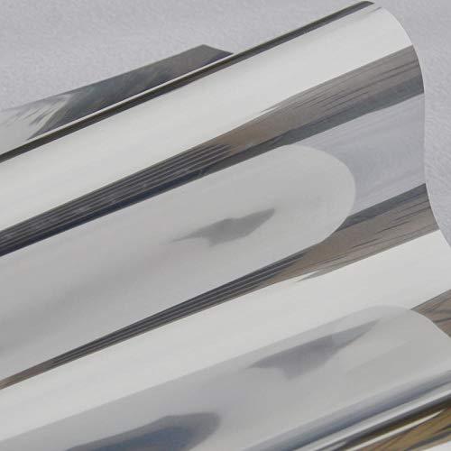 S`Good Wärmeisolierung UV-Schutz Fensterfolie ,Silber Isolierfolie Aufkleber Solar Reflective One Way Mirror Farbe Silber Breite 30/40/50/60/70/80/85 Von Länge 150Cm @ Width_40_cm