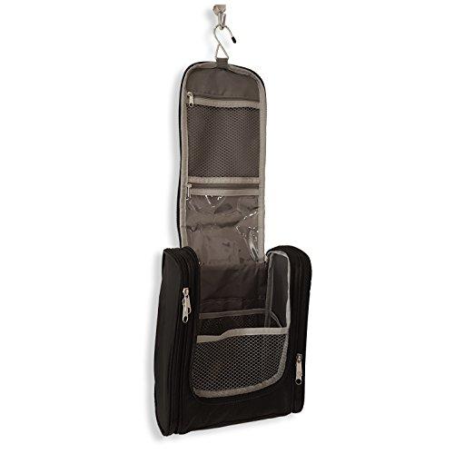 praxxim Extra großer Kulturbeutel mit vielen Innentaschen – Hochwertige Kulturtasche für lange Reisen – Praktischer XXL Waschbeutel für Damen und Herren – Wasserabweisende Waschtasche zum Aufhängen