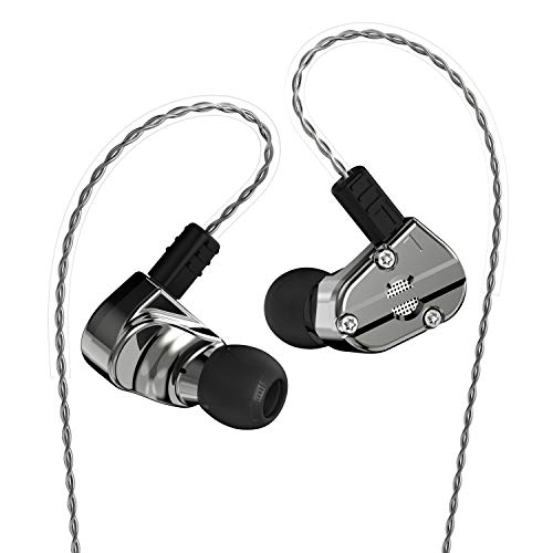 RevoNext QT5 1DD+1BA Heavy Metal Housing In Ear Headphone (Gun color no mic)