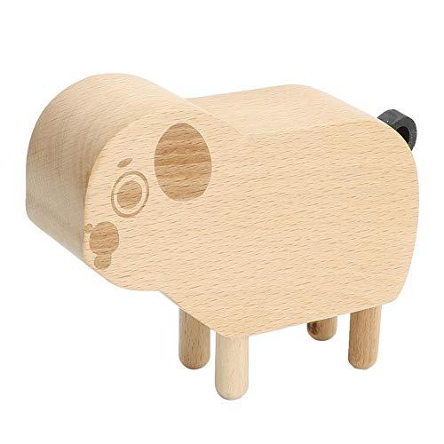 Hilitand Spieluhr aus Holz in Tierform, Spieluhr, Handarbeit, Spieluhr für Kinder, Geschenk zum Geburtstag, Weihnachten(Puppy)