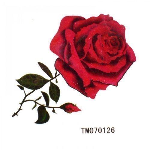Spestyle impermeabile tatuaggio temporaneo non tossico stickersnew rilasciare impermeabile tatuaggi sexy rose rosse temporanee