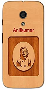 Aakrti Printed designers Back cover in wood finish For Smart Phone Model : Yu YUNICORN .Name Anilkumar (Son Of Wind ) Will be replaced with Your desired Name