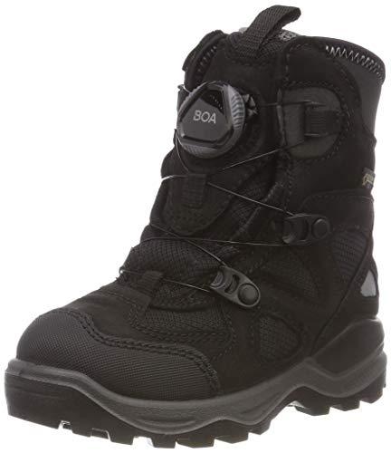 ECCO Unisex Kids' Snow Mountain Boots, Schwarz (Black 51052), 12UK Child