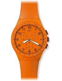 Swatch Unisex Wild Orange Unisex Analogue Watch with orange Dial Analogue Display - SUSO400