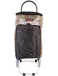 6959Verano Leopardo cool-bag con aislamiento Dos Ruedas Plegable Carrito de la compra