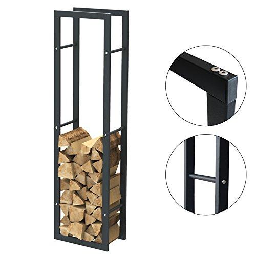 Brennholzregal Kaminholzständer Kaminholzregal Feuerholzregal Kaminholzhalter Brennholz 40 x 150 x 25 cm (Breite x Höhe x Tiefe) 31000.1