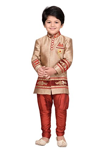 AJ Dezines Kids Party Wear Suit Set for Boys (692_MAROON_10)