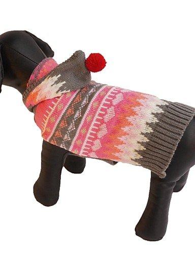 Katzen / Hunde Kostüme / Mäntel / Pullover / Kapuzenshirts / Kleider Rosa Hundekleidung Winter / Frühling/Herbst StreifenNiedlich / , xs (Gruppen Von 4 Kostüme)
