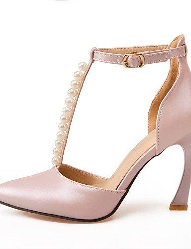 WSS 2016 Chaussures Femme-Mariage / Habillé / Soirée & Evénement-Bleu / Rose / Blanc-Talon Aiguille-Talons / D'Orsay & Deux Pièces / Bout Pointu- pink-us7.5 / eu38 / uk5.5 / cn38
