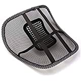 Auto Pearl-BLK-BACK-REST Generic (unbranded) CBRNE Mesh Ventilation Back Rest with Lumbar Support