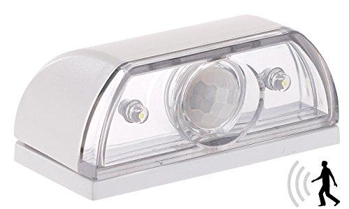 Lunartec Treppenlicht: Mini-LED-Treppenleuchte & Nachtlicht, PIR-Bewegungssensor, 5 lm, 0,12W (Treppenlicht Batterie)