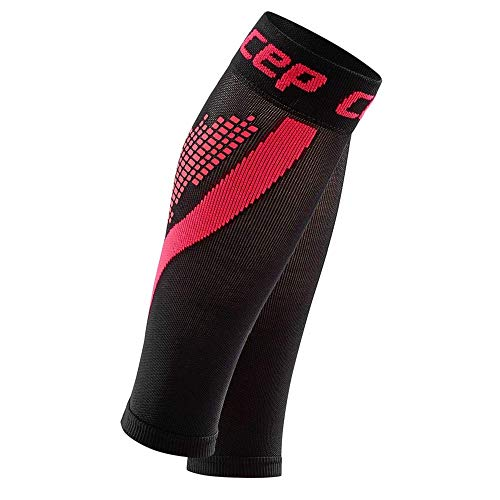 CEP - Nighttech Calf Sleeve 2.0 Reflektierende Beinstulpen/Wadenschoner für Damen, Socken für präzise Wadenkompression, Unisex, WS4L0, Rose, V -