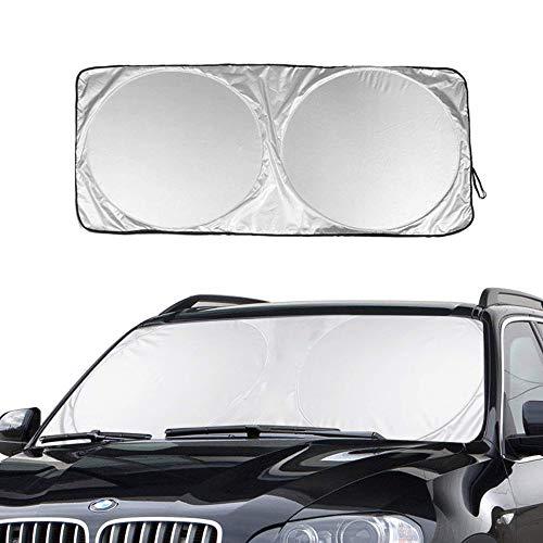 Auto Sonnenschutz, BOFAA 210T Windschutzscheibe Sonnenschutz Hält das Auto Kühler um bis zu 50%, Flexibel Größe für SUV, Truck, Auto Big oder kleine, Lebenslange Garantie