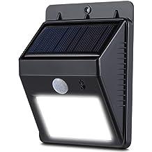 Duractron Lámpara Solar de 8 LEDs con Sensor de movimiento IP64 Impermeable