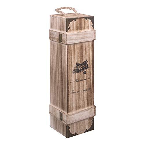 Añade tu propia botella de vino a la caja para crear el regalo perfecto para cumpleaños, bodas, compromisos, fiestas de jubilación, Navidad, Año Nuevo o casi cualquier evento especial que puedas imaginar. La caja de madera Woodluv para botella de vin...