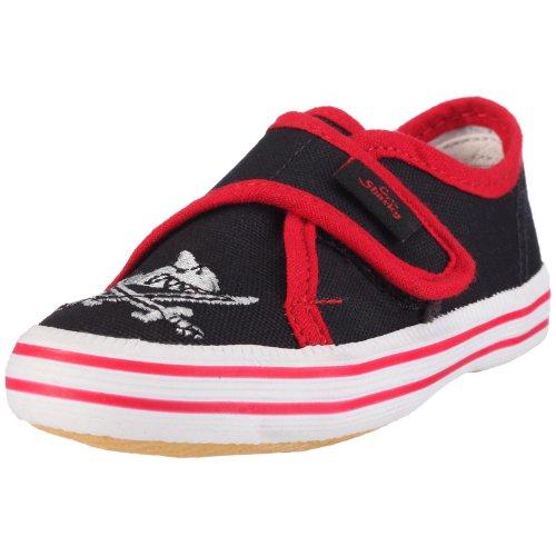 Capt'n Sharky 140006, Jungen Gymnastikschuhe, Schwarz (schwarz/rot), 22 EU