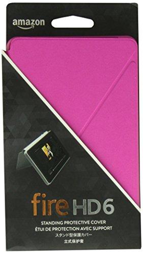 Étui de protection pour Fire HD 6 (4ème génération - modèle 2014), Noir Rose magenta