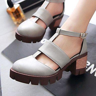 Zormey Frauen Schuhe Chunky Fersen/D'Orsay & Amp Zweiteilige/Gladiator Heels Party & Amp Abend-/Kleid Schwarz/Braun/Grau/Mandel US6 / EU36 / UK4 / CN36