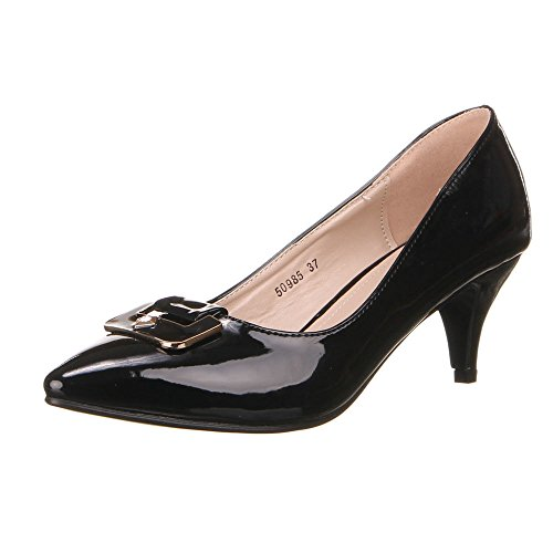 Damen Schuhe, 50985, PUMPS Schwarz