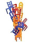 PREMIUM Beliebtes Stapelspiel Stuhl auf Stuhl - Balance Chairs Leiter & Stühle stapeln Stapelstuhl Spiel Geschicklichkeitsspiel Familienspiel mit Spaßgarantie