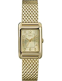 Timex Damen-Armbanduhr XS Women's Dress Bracelet Analog Quarz Edelstahl T2P304