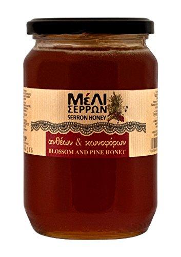 Griechische Reines Wald und Bergblütenhonig Nettogewicht 920gr im Glas (Griechischer Reiner Honig)