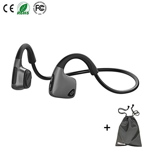 Bone Conduction Headphones, Open Ear Bluetooth Wireless Headsets 36g Lightweight Sweatproof Sport Headphones for Safe Plogging Running Driving Cycling Compatible with iPhone Samsung Huawei(Black)