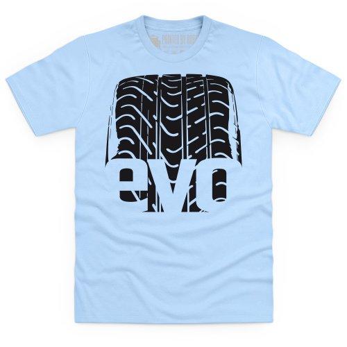 evo Tyre Treads T-Shirt, Herren Himmelblau