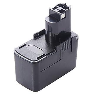 Amsahr BOS-12(C) 3.0 A 12 V Replacement Power Tools Battery for Bosch GBM 12VES-2/GSR 12V/2607335054/BAT011/BH1214L/BH1214H - Black