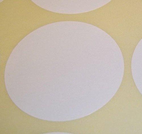 Pack Of 100 Grande 63mm Redondo / Circular Código De Color Lunares En Blanco Precio Pegatinas Etiquetas - Elija Su Color/s (blanco)