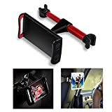 """Lidasen Car Tablet Holder,Car Headrest Mount : Universal 360 Rotating Car Seat Stand Cradle for All 4.4~11"""" Tablets,Pad Pro 9.7, 10.5,Air mini,Nintendo Switch,Tab,Mobile Phones (Red)"""