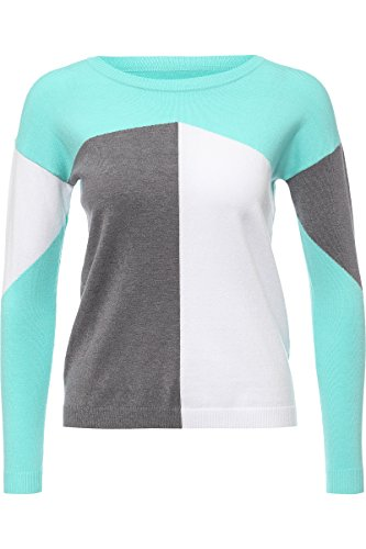 Finn Flare Damen Stilvoller Pullover mit trendigem Color-Blocking-Design Begonia XS (Pullover Frauen Color Blocking)